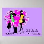 Chicas rosados púrpuras que hacen compras de los m posters