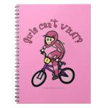 Chicas rosas claros BMX Libro De Apuntes