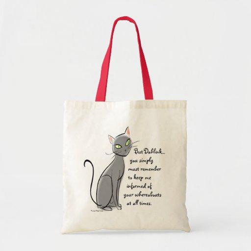 """""""Chicas/señoras de los gatitos del dibujo animado"""" Bolsa De Mano"""