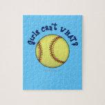 Chicas Softball-Azules Rompecabeza Con Fotos