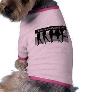 Chicas solamente camisetas de perrito