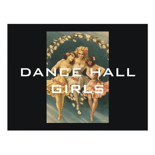 Chicas SUPERIORES de pasillo de danza Postal