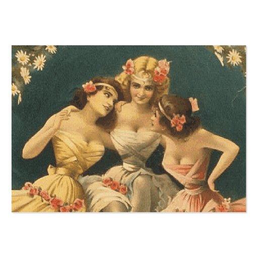 Chicas SUPERIORES de pasillo de danza Plantillas De Tarjetas De Visita