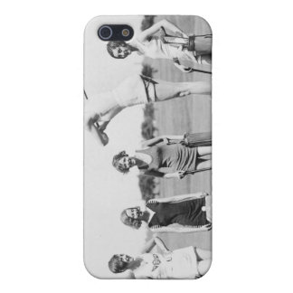 Chicas TEE-OFF en el caso retro del iPhone 4 del v iPhone 5 Fundas