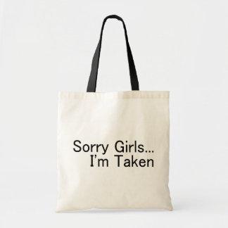 Chicas tristes Im tomado Bolsa Tela Barata