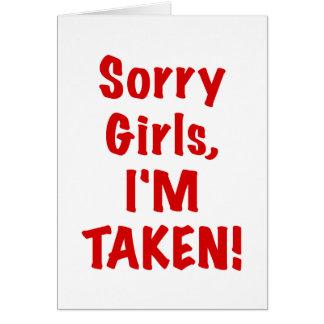 Chicas tristes Im tomado Tarjetón