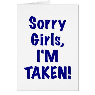 Chicas tristes Im tomado Tarjeton