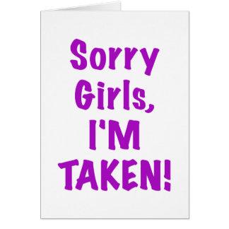Chicas tristes Im tomado Felicitación