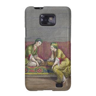 Chicas turcos, jugando Mangala, siglo XVIII (engr Samsung Galaxy S2 Fundas