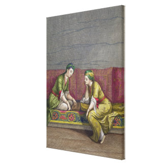 Chicas turcos, jugando Mangala, siglo XVIII (engr Lienzo Envuelto Para Galerias
