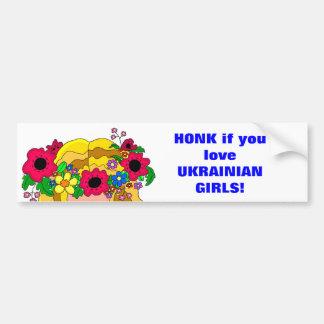 Chicas ucranianos pegatina de parachoque