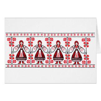 Chicas ucranianos tradicionales de Ucrania del Tarjeta De Felicitación