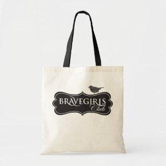 Chicas valientes negros y tote blanco bolsa tela barata