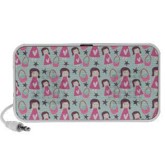 Chicas y bolsos altavoz de viaje