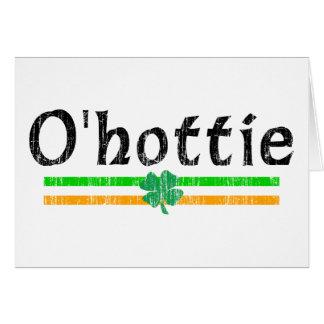 Chicas y individuos irlandeses de O'hottie Tarjeta