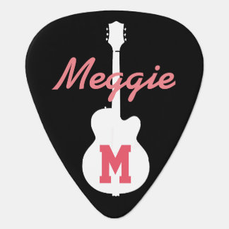 chicas y música rock personalizados púa de guitarra
