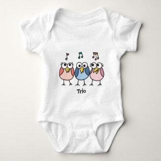 Chicas y trío de Byrdies del bebé del muchacho Poleras