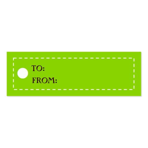 CHICEST GIFT TAGS - Customized Mini Business Card : Zazzle
