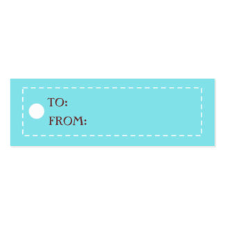 CHICEST GIFT TAGS MINI BUSINESS CARD