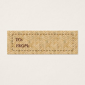 CHICEST RATTAN GIFT TAG
