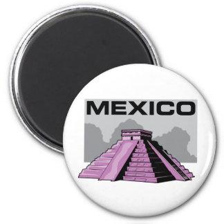 Chichen Itza 2 Inch Round Magnet