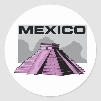 Chichen Itza Classic Round Sticker