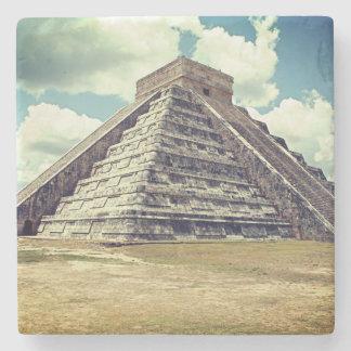 Chichen Itza El Castillo Stone Coaster