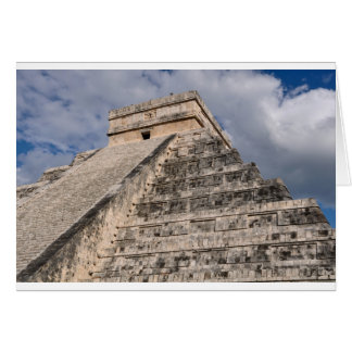 Chichen Itza Mayan Ruin in Mexico Card