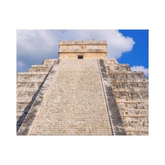 Chichen Itza Mayan Temple in Mexico Canvas Print