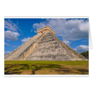 Chichen Itza Mayan Temple in Mexico Card
