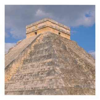 Chichen Itza Mayan Temple in Mexico Panel Wall Art