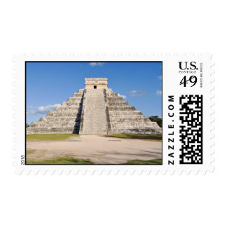 Chichen Itza Mayan Temple in Mexico Postage