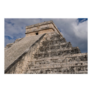 Chichen Itza Mayan Temple in Mexico Poster