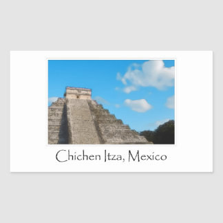 Chichen Itza Mayan Temple in Mexico Rectangular Sticker