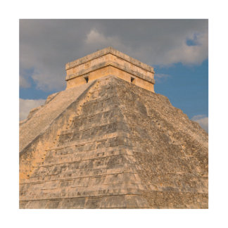 Chichen Itza Mayan Temple in Mexico Wood Wall Art