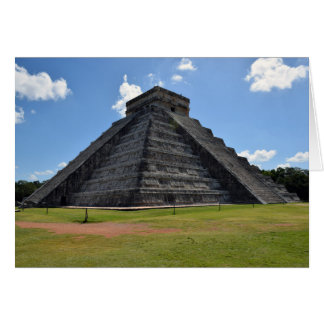 Chichen Itza Mexico Kukulkan Pyramid 7 Wonders Card