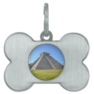 Chichen Itza Mexico Kukulkan Pyramid 7 Wonders Pet ID Tag