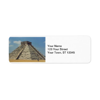 Chichen Itza- Mexico Label