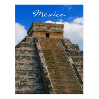 chichen itza mexico postcard