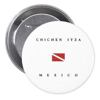 Chichen Itza Mexico Scuba Dive Flag Pinback Buttons