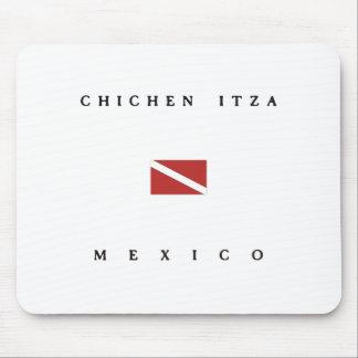 Chichen Itza Mexico Scuba Dive Flag Mouse Pad