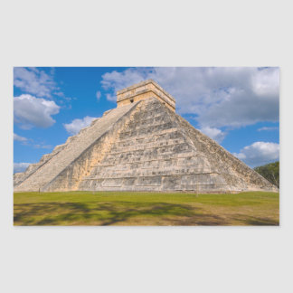 Chichen Itza Ruins in Mexico Rectangular Sticker