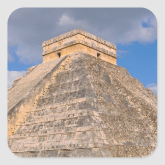 Chichen Itza Ruins in Mexico Square Sticker