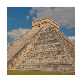 Chichen Itza Ruins in Mexico Wood Wall Art