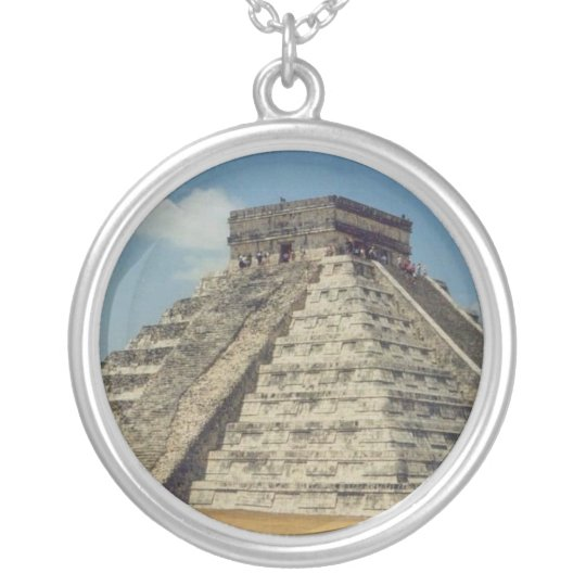 Chichen Itza Silver Plated Necklace