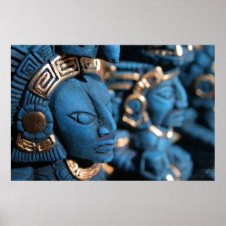 Chichen Itza statues print