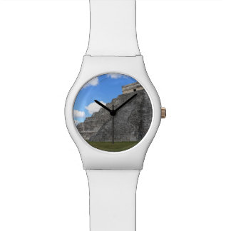 Chichen Itza Temple of Kukulcan south-west View Wrist Watch