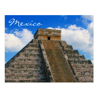 chichen itza temple postcard