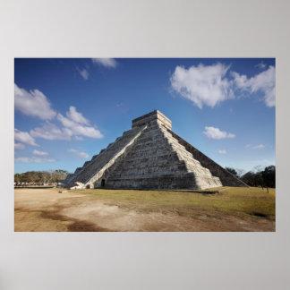 Chichenitza, pirámide de Kukulkan Posters