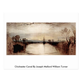 Chichester Canal By Joseph Mallord William Turner Postcard